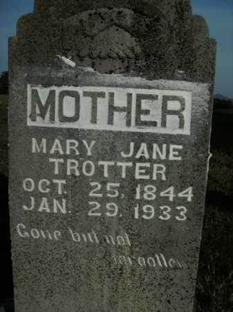 TROTTER, MARY JANE - Boone County, Arkansas | MARY JANE TROTTER - Arkansas Gravestone Photos