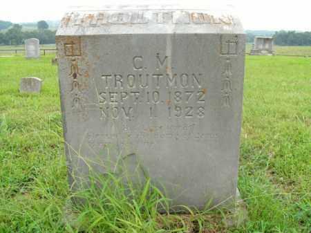 TROUTMAN, CHARLES MAXWELL - Boone County, Arkansas   CHARLES MAXWELL TROUTMAN - Arkansas Gravestone Photos