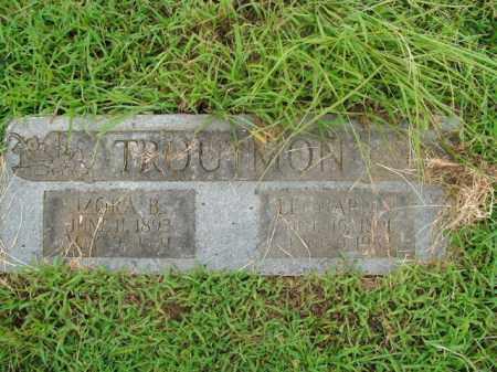 TROUTMAN, LEONARD B. - Boone County, Arkansas | LEONARD B. TROUTMAN - Arkansas Gravestone Photos