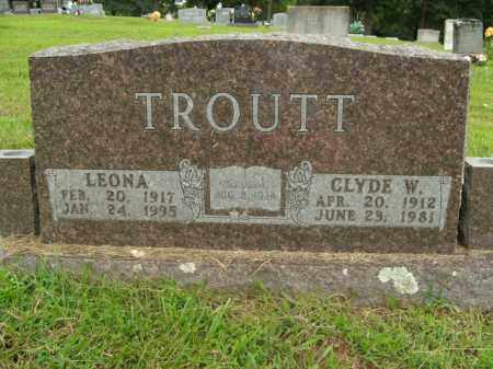 TROUTT, CLYDE WALTER - Boone County, Arkansas | CLYDE WALTER TROUTT - Arkansas Gravestone Photos