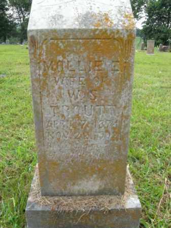 TROUTT, MOLLIE E. - Boone County, Arkansas | MOLLIE E. TROUTT - Arkansas Gravestone Photos