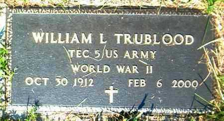 TRUBLOOD  (VETERAN WWII), WILLIAM L. - Boone County, Arkansas | WILLIAM L. TRUBLOOD  (VETERAN WWII) - Arkansas Gravestone Photos