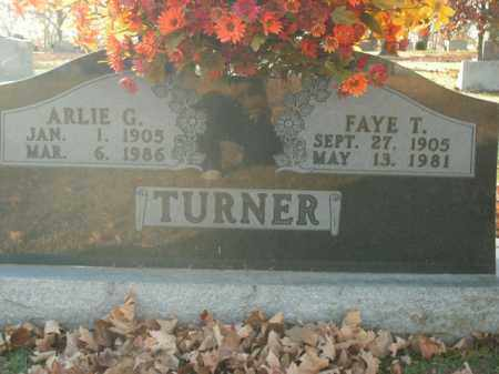 TURNER, SR, ARLIE G. - Boone County, Arkansas | ARLIE G. TURNER, SR - Arkansas Gravestone Photos