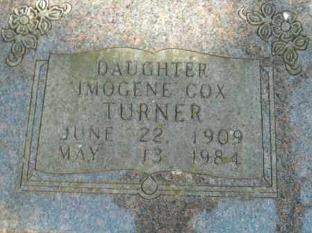 COX TURNER, IMOGENE - Boone County, Arkansas | IMOGENE COX TURNER - Arkansas Gravestone Photos