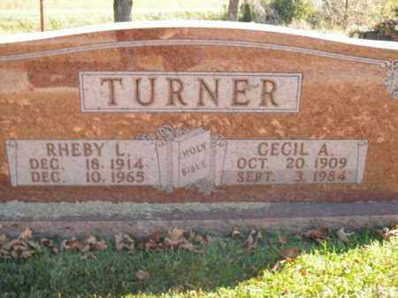 TURNER, CECIL A. - Boone County, Arkansas | CECIL A. TURNER - Arkansas Gravestone Photos