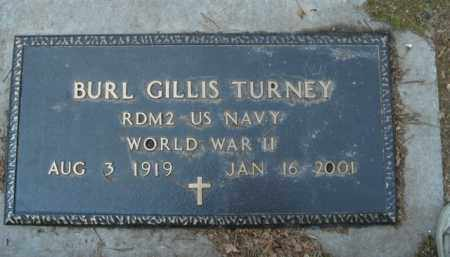 TURNEY  (VETERAN WWII), BURL GILLIS - Boone County, Arkansas | BURL GILLIS TURNEY  (VETERAN WWII) - Arkansas Gravestone Photos
