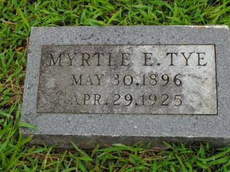 TYE, MYRTLE E. - Boone County, Arkansas | MYRTLE E. TYE - Arkansas Gravestone Photos
