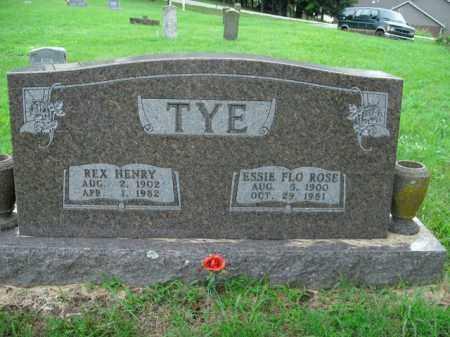 TYE, REX HENRY - Boone County, Arkansas | REX HENRY TYE - Arkansas Gravestone Photos