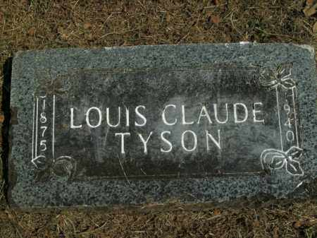 TYSON, LOUIS CLAUDE - Boone County, Arkansas | LOUIS CLAUDE TYSON - Arkansas Gravestone Photos
