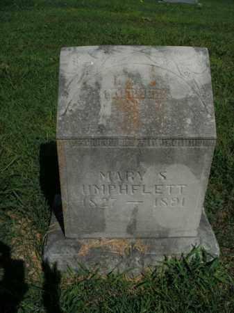 UMPHFLETT, MARY S. - Boone County, Arkansas | MARY S. UMPHFLETT - Arkansas Gravestone Photos