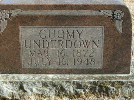 UNDERDOWN, CUQMY - Boone County, Arkansas | CUQMY UNDERDOWN - Arkansas Gravestone Photos