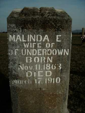UNDERDOWN, MALINDA E. - Boone County, Arkansas | MALINDA E. UNDERDOWN - Arkansas Gravestone Photos