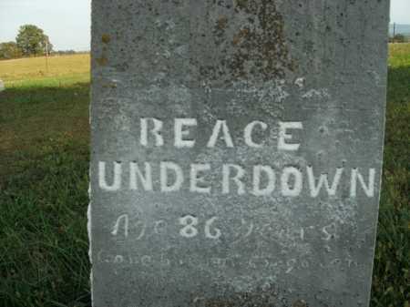 UNDERDOWN, REACE - Boone County, Arkansas | REACE UNDERDOWN - Arkansas Gravestone Photos