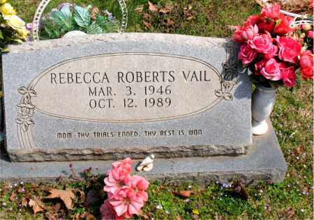 ROBERTS VAIL, REBECCA - Boone County, Arkansas | REBECCA ROBERTS VAIL - Arkansas Gravestone Photos