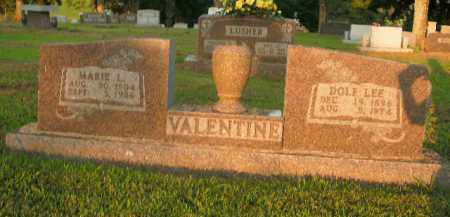 VALENTINE, DOLF LEE - Boone County, Arkansas | DOLF LEE VALENTINE - Arkansas Gravestone Photos