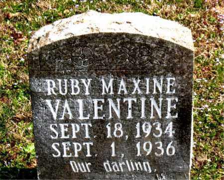 VALENTINE, RUBY MAXINE - Boone County, Arkansas | RUBY MAXINE VALENTINE - Arkansas Gravestone Photos