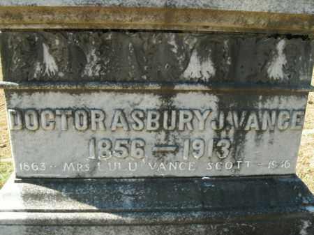 VANCE, ASBURY J. (DOCTOR) - Boone County, Arkansas | ASBURY J. (DOCTOR) VANCE - Arkansas Gravestone Photos
