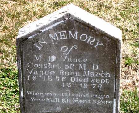 VANCE, M.  R. - Boone County, Arkansas | M.  R. VANCE - Arkansas Gravestone Photos