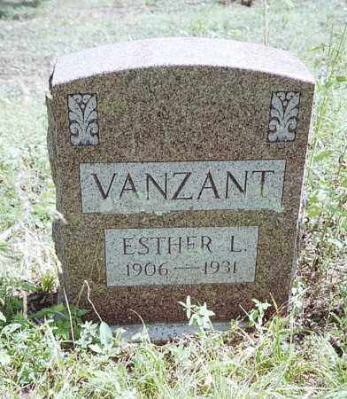 VANZANT, ESTHER  L. - Boone County, Arkansas | ESTHER  L. VANZANT - Arkansas Gravestone Photos