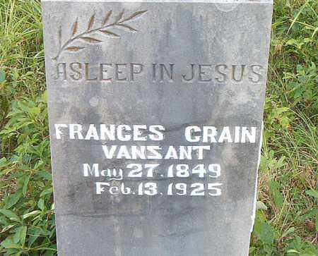 CRAIN VANZANT, FRANCES - Boone County, Arkansas | FRANCES CRAIN VANZANT - Arkansas Gravestone Photos