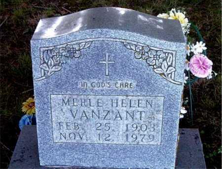VANZANT, MERLE HELEN - Boone County, Arkansas | MERLE HELEN VANZANT - Arkansas Gravestone Photos