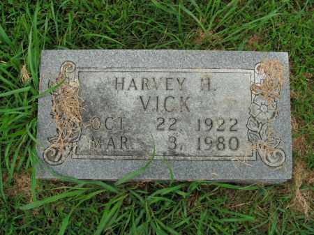 VICK, HARVEY H. - Boone County, Arkansas | HARVEY H. VICK - Arkansas Gravestone Photos