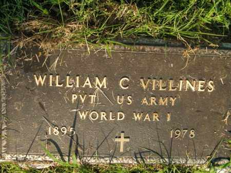 VILLINES  (VETERAN WWI), WILLIAM C - Boone County, Arkansas | WILLIAM C VILLINES  (VETERAN WWI) - Arkansas Gravestone Photos