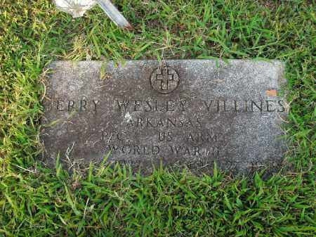 VILLINES  (VETERAN WWII), JERRY WESLEY - Boone County, Arkansas | JERRY WESLEY VILLINES  (VETERAN WWII) - Arkansas Gravestone Photos