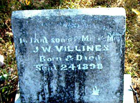 VILLINES, INFANT SON - Boone County, Arkansas | INFANT SON VILLINES - Arkansas Gravestone Photos