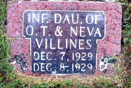 VILLINES, INFANT DAUGHTER - Boone County, Arkansas | INFANT DAUGHTER VILLINES - Arkansas Gravestone Photos