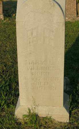 VILLINES, MARY L. - Boone County, Arkansas | MARY L. VILLINES - Arkansas Gravestone Photos