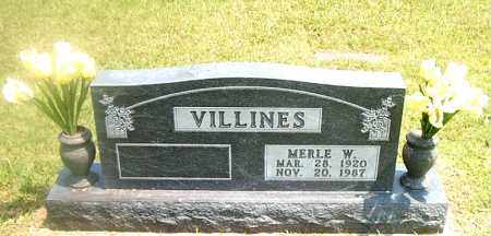 VILLINES, MERLE  W. - Boone County, Arkansas | MERLE  W. VILLINES - Arkansas Gravestone Photos