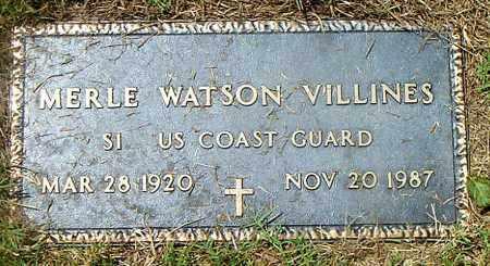 VILLINES  (VETERAN), MERLE WATSON - Boone County, Arkansas | MERLE WATSON VILLINES  (VETERAN) - Arkansas Gravestone Photos