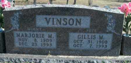 VINSON, GILLIS M. - Boone County, Arkansas | GILLIS M. VINSON - Arkansas Gravestone Photos