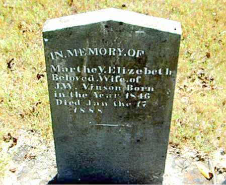 VINSON, MARTHEY ELIZABETH - Boone County, Arkansas | MARTHEY ELIZABETH VINSON - Arkansas Gravestone Photos