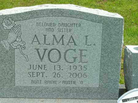 VOGE, ALMA L. - Boone County, Arkansas | ALMA L. VOGE - Arkansas Gravestone Photos