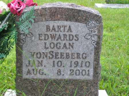 LOGAN VONSEEBERG, BARTA EDWARDS - Boone County, Arkansas | BARTA EDWARDS LOGAN VONSEEBERG - Arkansas Gravestone Photos