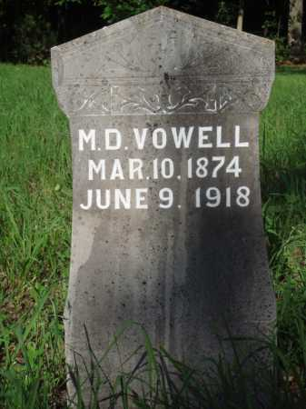 VOWELL, M. D. - Boone County, Arkansas | M. D. VOWELL - Arkansas Gravestone Photos