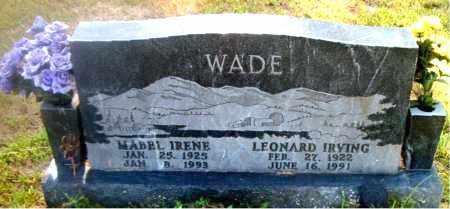 WADE, LEONARD IRVING - Boone County, Arkansas | LEONARD IRVING WADE - Arkansas Gravestone Photos