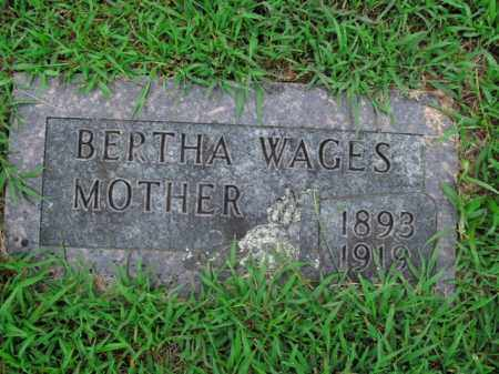 WAGES, BERTHA - Boone County, Arkansas | BERTHA WAGES - Arkansas Gravestone Photos