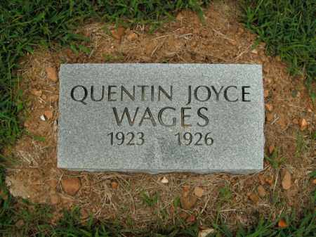 WAGES, QUENTIN JOYCE - Boone County, Arkansas   QUENTIN JOYCE WAGES - Arkansas Gravestone Photos