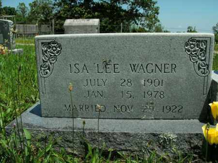 WAGNER, ISA LEE - Boone County, Arkansas | ISA LEE WAGNER - Arkansas Gravestone Photos
