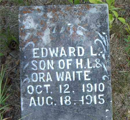 WAITE, EDWARD  L. - Boone County, Arkansas | EDWARD  L. WAITE - Arkansas Gravestone Photos