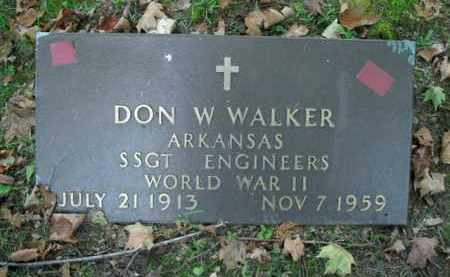 WALKER  (VETERAN WWII), DON W - Boone County, Arkansas | DON W WALKER  (VETERAN WWII) - Arkansas Gravestone Photos