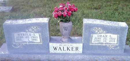 WALKER, ORAN L. - Boone County, Arkansas | ORAN L. WALKER - Arkansas Gravestone Photos