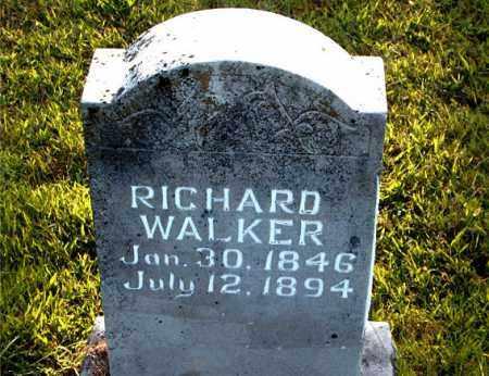 WALKER, RICHARD - Boone County, Arkansas | RICHARD WALKER - Arkansas Gravestone Photos