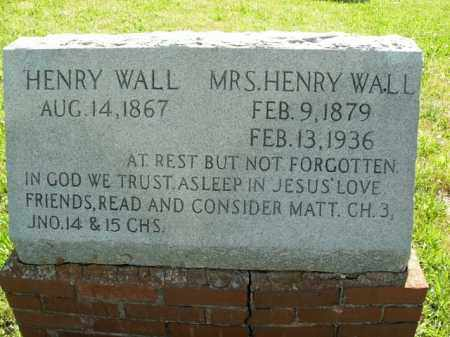 WALL, MRS. HENRY - Boone County, Arkansas | MRS. HENRY WALL - Arkansas Gravestone Photos