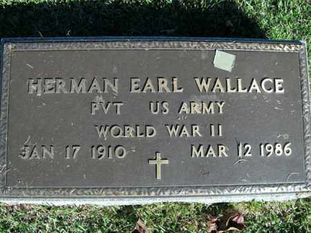 WALLACE  (VETERAN WWII), HERMAN EARL - Boone County, Arkansas | HERMAN EARL WALLACE  (VETERAN WWII) - Arkansas Gravestone Photos