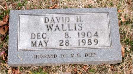 WALLIS, DAVID H. - Boone County, Arkansas | DAVID H. WALLIS - Arkansas Gravestone Photos