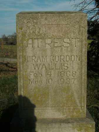 WALLIS, HIRAM GORDON - Boone County, Arkansas | HIRAM GORDON WALLIS - Arkansas Gravestone Photos